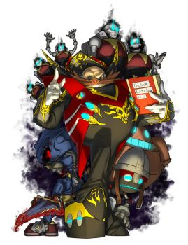 Eggman the Lord of the Dead by inualet