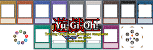 Yu-Gi-Oh! TCG card templates (VRAINS era update) by DecaTilde