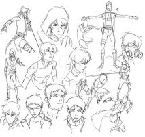 VLD x SOC AU sketches pt1 by JeanRyde