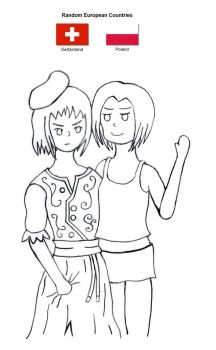 Random Countries #3 Fake Twin (Sisters) by kido4ever
