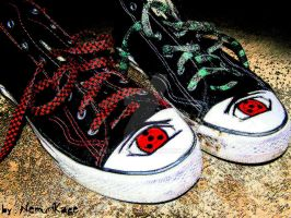 ..sharingan sneakers.. by NemuriKage