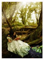 Reading In The Forest by CatherineCruz