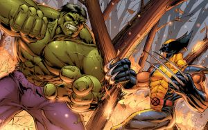 Wolverine vs Hulk by DashMartin