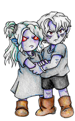 Franken and Kuraken Younger by windflame