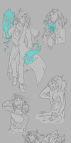Sketch page - First Viktor, Then Bianca by GreenOverGreen