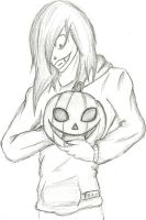 Jeff and his pumpkin by Anna-chan14