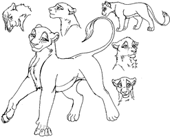 Lion Lineart MS Paint by July261995