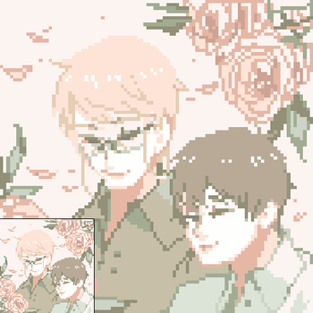 frici and sho (dotpict) by alpacasovereign