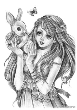 .:My sweet bunny:. by Aniel-AK
