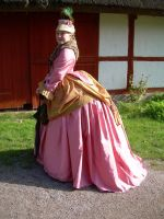 early bustle dress by LadyCafElfenlake
