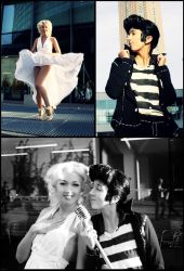 Elvis and Marilyn Cosplay - The King + The Beauty by Murdoc-lein