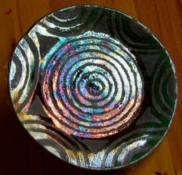 Raku Saucer Fall 2007 by CorazondeDios