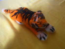 Needle felted tiger plushie by ArcticIceWolf