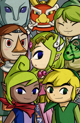 Wind Waker: Main Characters by Icy-Snowflakes