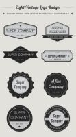 Vintage Logo Badges by loreleyyy