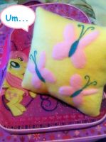 Fluttershy plush mini pillow by CynicalSniper
