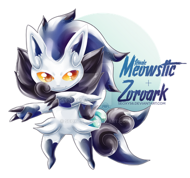 F Meowstic x Zoroark by Seoxys6