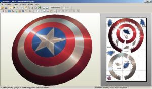 Captain America Shield by ScannerJOE