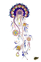 Ornamented Jellyfish 1 by E-Arts-Genista