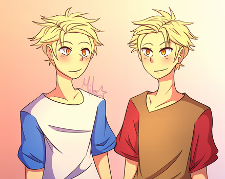 Chaotic Twins by MikoMei