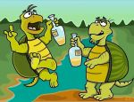 Turtles with Tequila by TallToonist