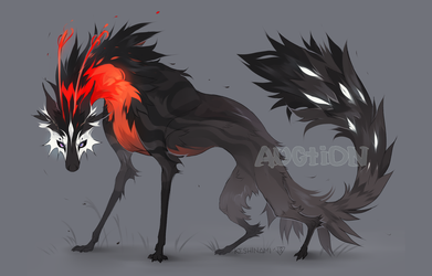 #42 Red-necked beast [ADOPT AUCTION] CLOSED by Keshinami