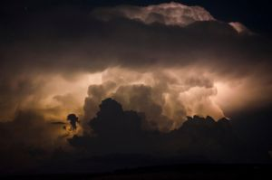 Lightning in the clouds 1 by halfhandau