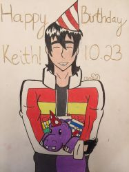 Keith Birthday Drawing by cloudwolfanime