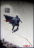 Darth Vader skateboarding by TheArtofBlouh