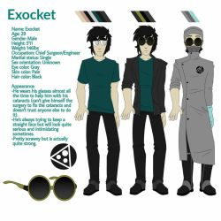 Exocket's reference sheet  by Vigment