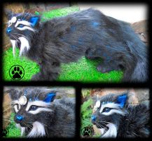 SOLD Noctis the long-tailed midnight lynx artdoll! by CreaturesofNat