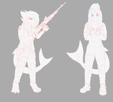 [WIP] Sharks with guns by elitex2211