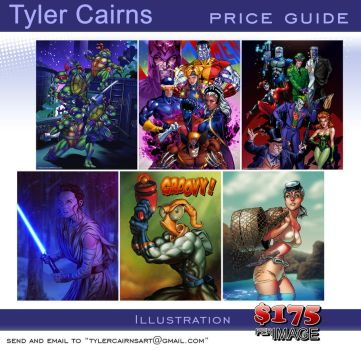 2017 Commission Price Guide by tylercairnsart