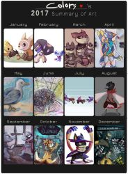 2017 Art Summery by ColorsAreAwesome