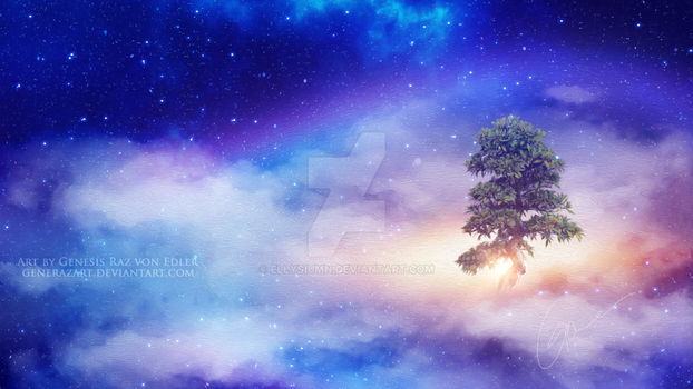 The tree above the clouds by GeneRazART