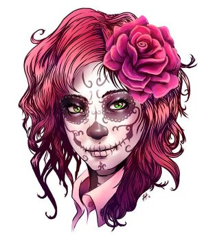 Day of the Dead Girl by BlackHawk45LC