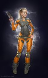 pilot_space suit female by paulboutros