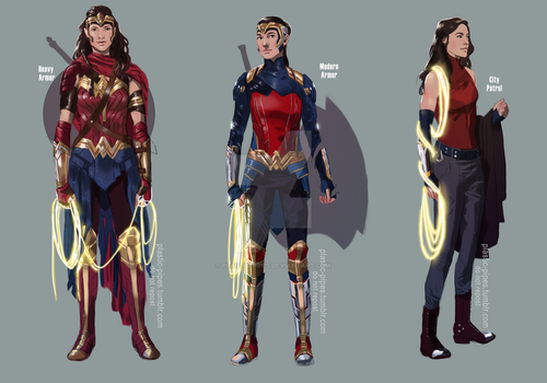 Wonder Woman Concepts by plastic-pipes