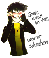 Smile Even In The Worst Situation by Sadan-sins