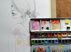 Work in progress...and my palette by jane-beata
