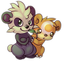 Pancham and Teddiursa