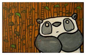 Little Paintings - panda by Duffzilla