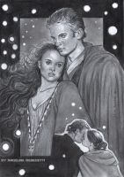 Anakin and Padme Poster Artwork by AngelinaBenedetti