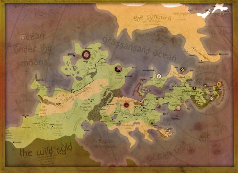 Another (Oriental) Fantasy Map by theSuricateProject