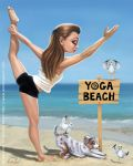 Yoga beach by TheTruthLiesWithin