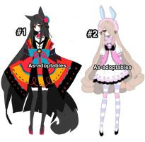 kemonomini adoptables open 1/2 by AS-Adoptables