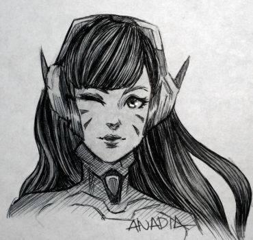 Day #21: D.Va by Anadia-Chan