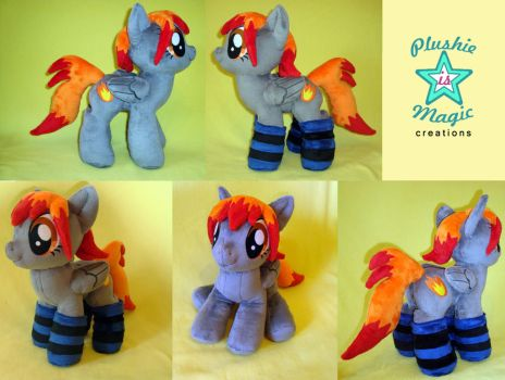COMMISSION: Night Flame OC plushie by SunflowerTiger
