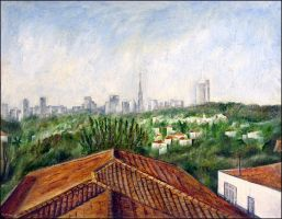 rooftops and cityscape by tamino