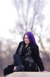 Purple Haired Beauty 1 by Earthfeeler